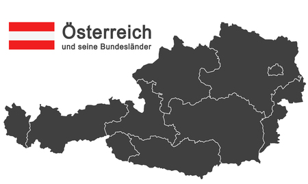 tyrol: european country austria and the federal states Illustration