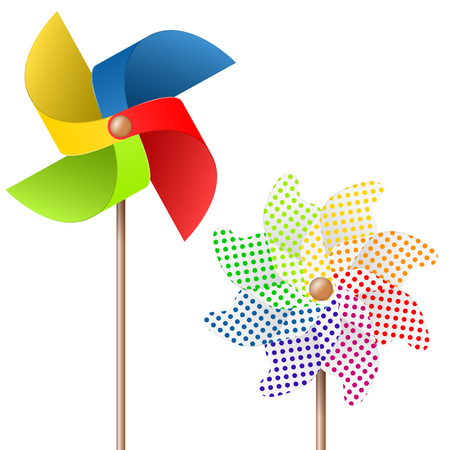 kids toys: summer toy pin wheel with eight different colors