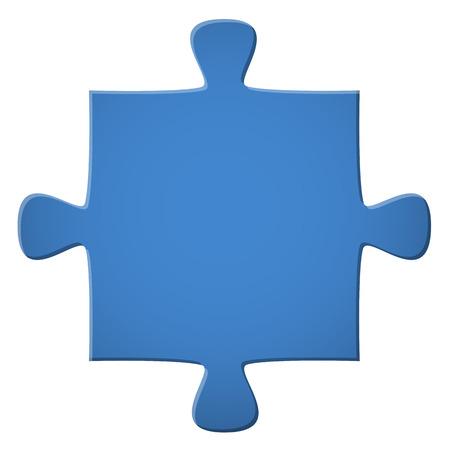 piece: Puzzle piece blue