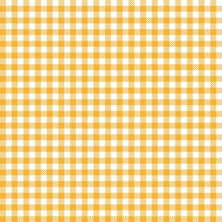 Checkered tablecloth pattern ORANGE endlessly Illustration