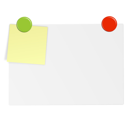 note: White paper with notes and magnet