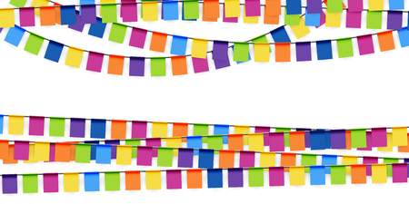 usage: colored garlands background collection for party or festival usage Illustration