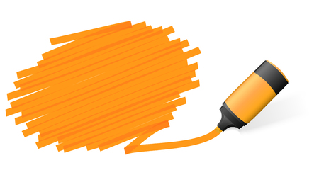 labeling: orange colored high lighter with marking for advertising usage