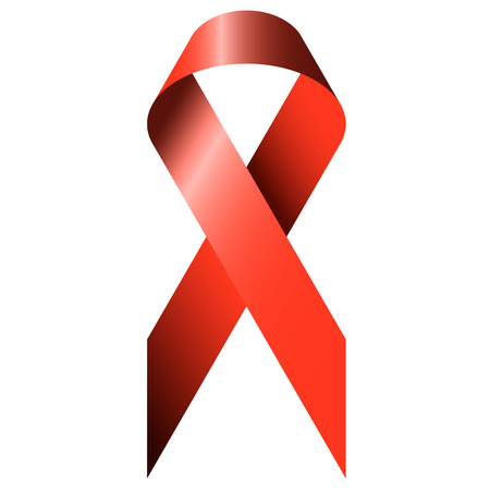 contagious: red ribbon as symbolism for world aids day Illustration