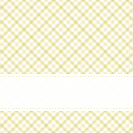 blue colored checkered table cloth pattern with free banner for text Stock Illustratie