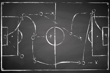 abstrakt grau schwarzes Brett Fußballfeld Hintergrund mit weißen Flecken Vektorgrafik