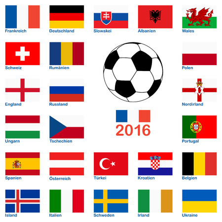 all flags of national teams of france soccer championship
