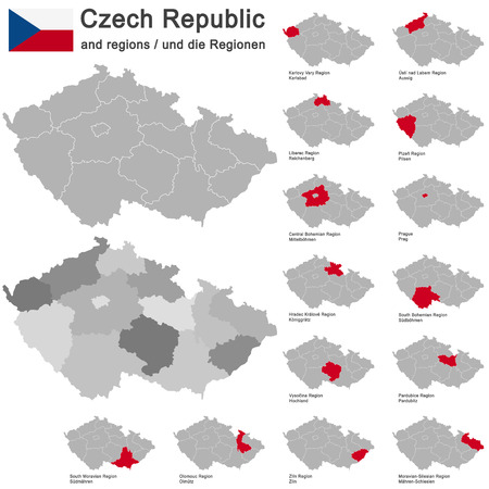 highlands region: european country Czech Republic and detailed regions