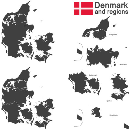 geographically: european country Denmark and detailed regions