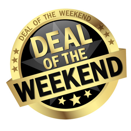 provision: colored button with banner and text Deal of the weekend