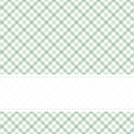 country kitchen: green colored checkered table cloth pattern with free banner for text