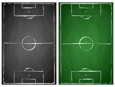 soccer field: abstract gray and green black board soccer field backgrounds