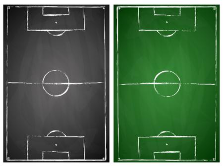 abstrakt grau und grün schwarzes Brett Fußballfeld Hintergründe Vektorgrafik