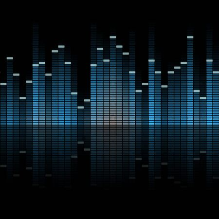 deejay: seamless digital equalizer background with color gradient