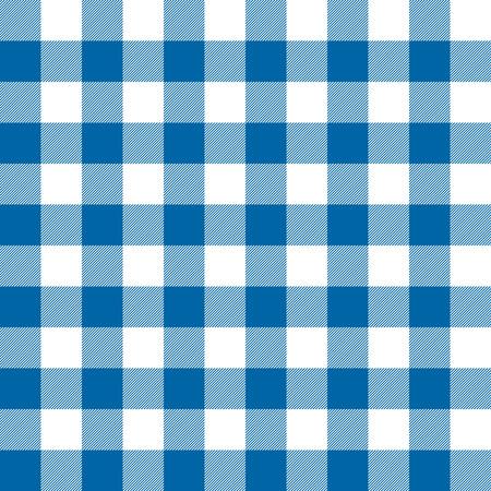 원활한 체크 무늬 테이블 천으로 배경이 파란색으로