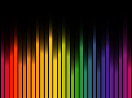 naadloze digitale equalizer strepen achtergrond met kleurverloop op zwarte achtergrond