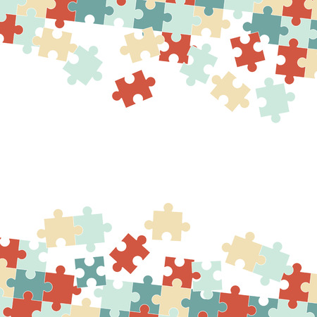 jointly: fine colored puzzle pieces on white background
