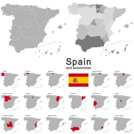 pays européen Espagne et autonomies dans les détails