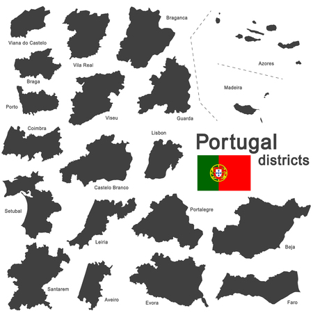 details: european country Portugal and districts in details