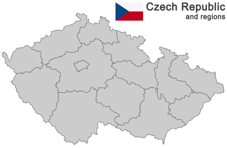 regions: european country Czech Republic and detailed regions