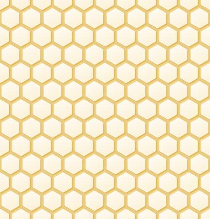 シームレスなオレンジ色の蜂蜜の櫛の背景