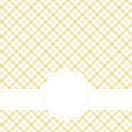 bookcover: yellow colored checkered table cloth pattern with free banner for text