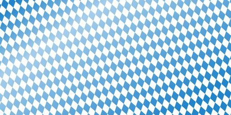 solemnity: blue and white checkered background header for german Oktoberfest Illustration