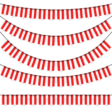 austrian: different garlands with national colors of austrian flag