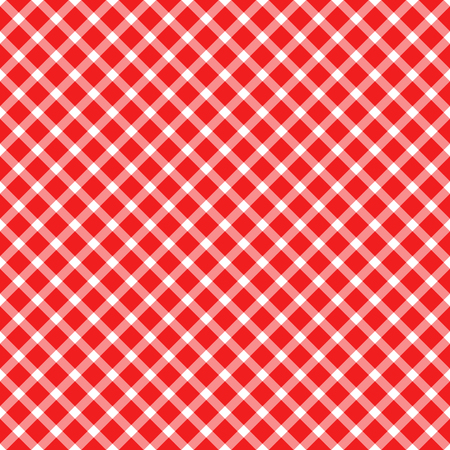 seamless red colored checkered table cloth pattern for background