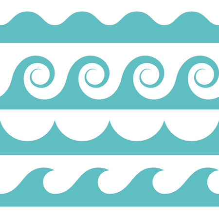swell: blue and white colored seamless Waves pattern