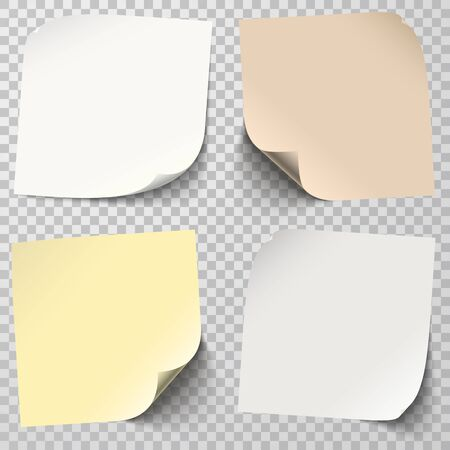 translucent: collection of different colored sticky notes with transparency showing shadow
