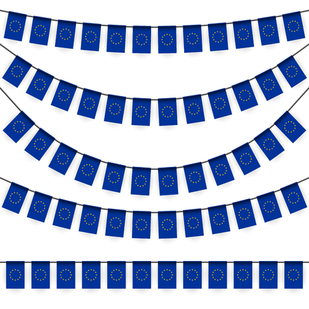 national colors: different garlands with national colors of europe flag Illustration