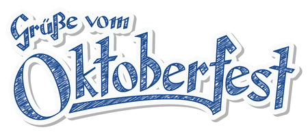 Blue and white header with scribble pattern and text greetings blue and white header with scribble pattern and text greetings from oktoberfest 2016 in german m4hsunfo