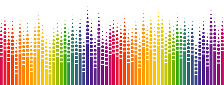 seamless digital equalizer background with color gradient