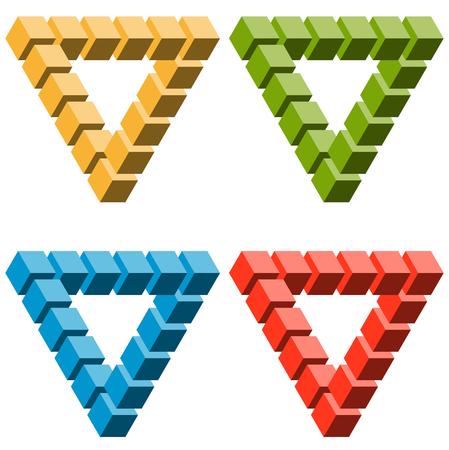 Petite collection d'illusions optiques colorés illustrés Banque d'images - 65186555