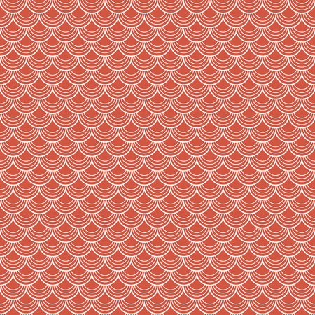 billow: abstract vector background of seamless red colored tiles