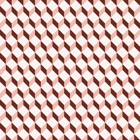 dimensionally: illustration of seamless background with colored optical illusion Illustration
