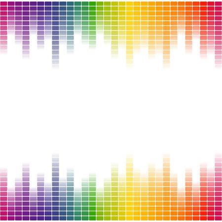 naadloze digitale equalizer achtergrond met kleurverloop