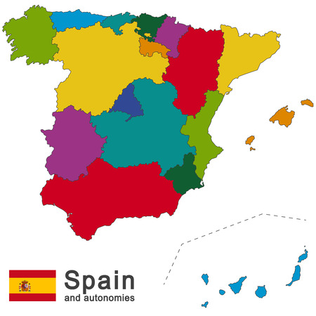 european country Spain and autonomies in details