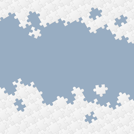 jointly: white colored puzzle pieces on gray background