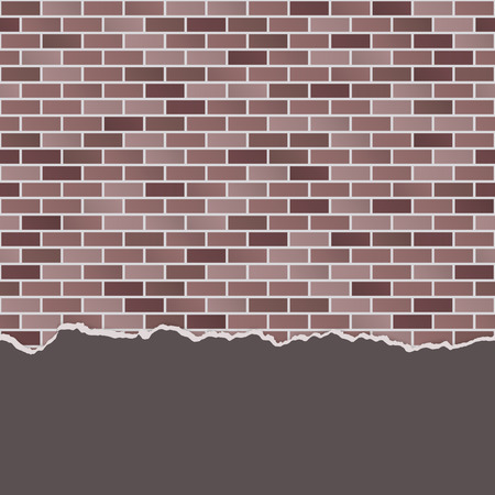 brick and mortar: seamless colored stone wall background with broken plaster