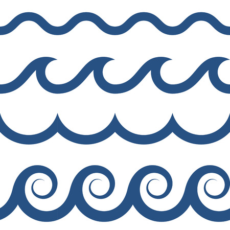 blue and white colored seamless Waves pattern Stock fotó - 65186962