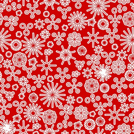 stars background: very abstract seamless snow fall background colored with white stars Illustration