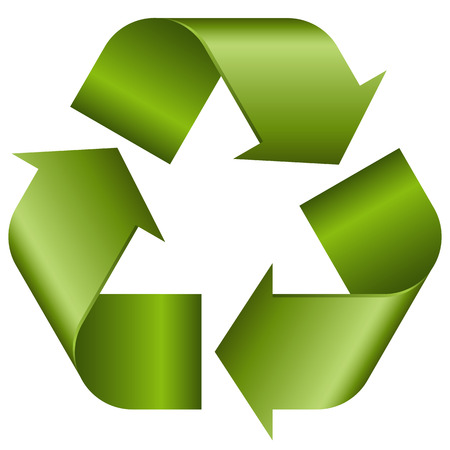 circulating: green economic recycle sign on white background Illustration