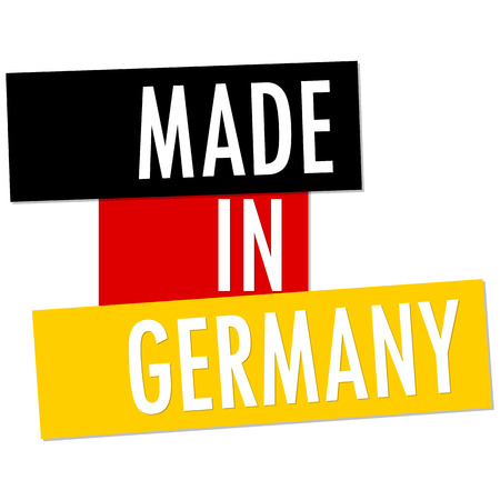 banderole: seal of quality with country flag and text Made in Germany