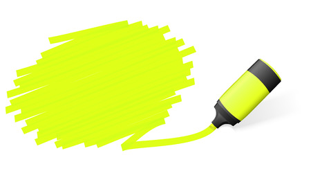 yellow colored high lighter with marking for advertising usage