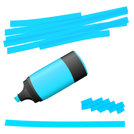 blue colored high lighter with markings for advertising usage Illustration