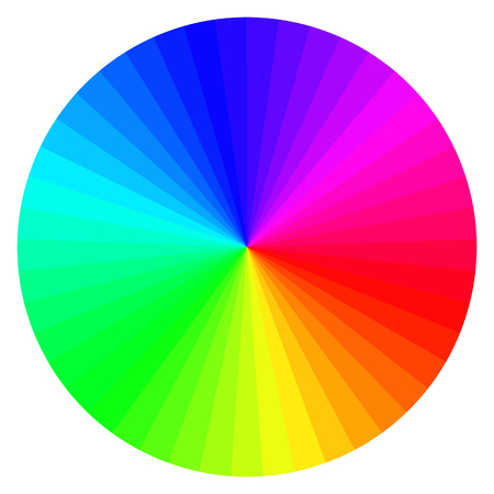 illustration of printing color wheel with different colors Illustration