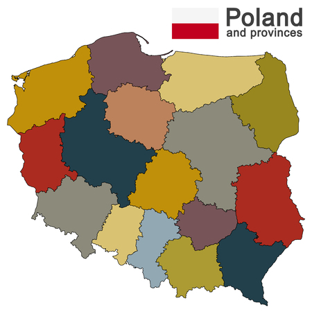 geographically: European country Poland Illustration