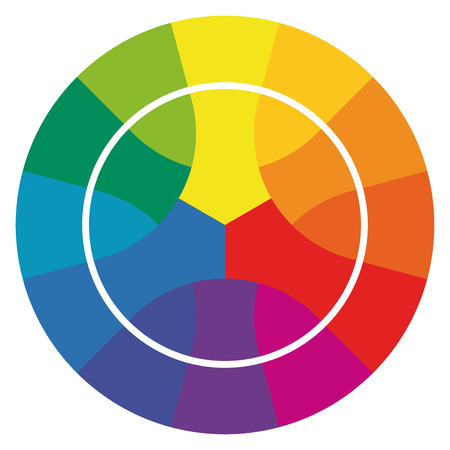 12: Illustration of printing color wheel with different colors in gradations
